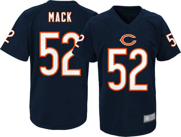 NFL Team Apparel Youth Chicago Bears Khalil Mack #52 Navy Performance T-Shirt product image