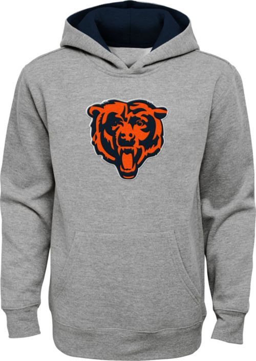 NFL Team Apparel Youth Chicago Bears Prime Grey Pullover Hoodie  supplier