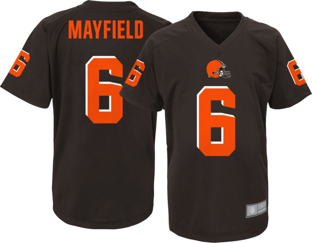 Discount NFL Team Apparel Youth Cleveland Browns Baker Mayfield #6 Brown  free shipping