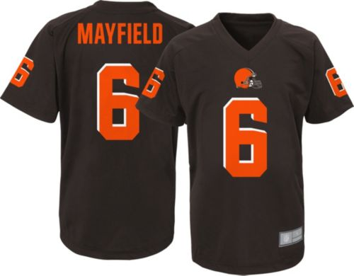 e040d7719 NFL Team Apparel Youth Cleveland Browns Baker Mayfield #6 Brown ...