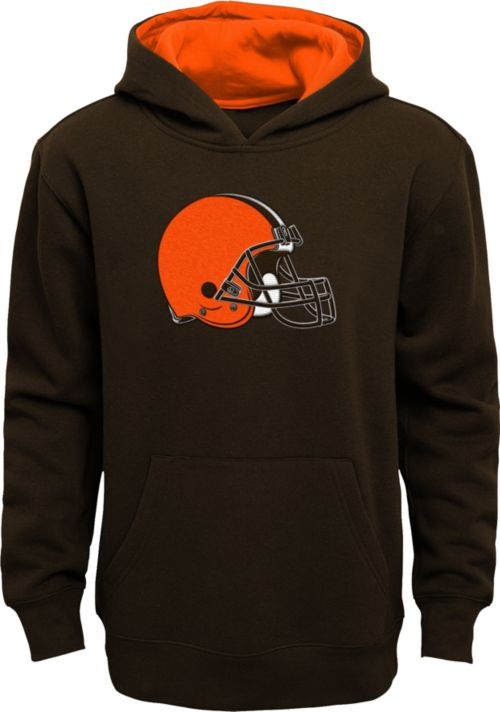 NFL Team Apparel Youth Cleveland Browns Prime Brown Pullover Hoodie.  noImageFound. 1 73df998a9