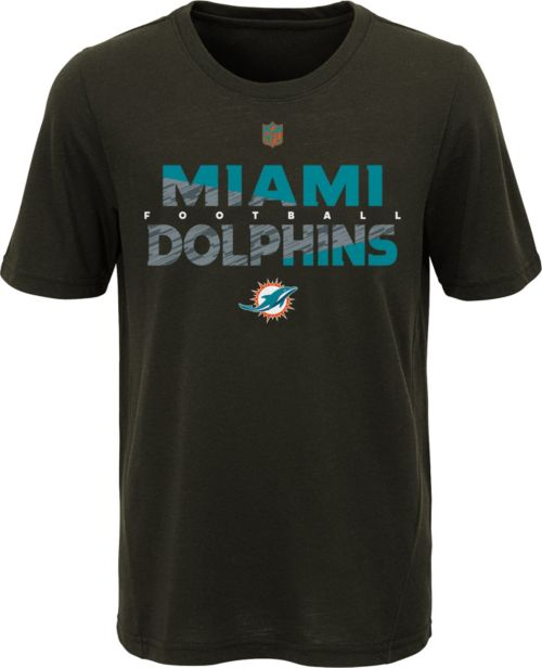 NFL Team Apparel Youth Miami Dolphins Flux Ultra Black T-Shirt ... b0eb23cce