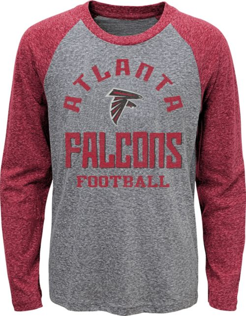 ef6ffe13bdf NFL Team Apparel Youth Atlanta Falcons Gridiron Grey Long Sleeve Shirt.  noImageFound. 1
