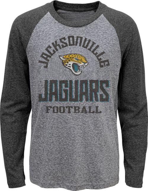 NFL Team Apparel Youth Jacksonville Jaguars Gridiron Grey Long Sleeve Shirt.  noImageFound. 1 0adcea665