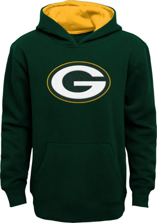 NFL Team Apparel Youth Green Bay Packers Prime Green Pullover Hoodie product image
