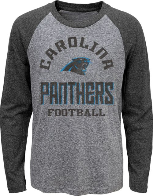 NFL Team Apparel Youth Carolina Panthers Gridiron Grey Long Sleeve Shirt.  noImageFound. 1 d67dabe7f