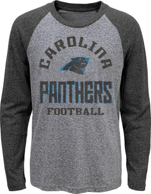 NFL Team Apparel Youth Carolina Panthers Gridiron Grey Long Sleeve Shirt.  noImageFound. 1 9b2d319df