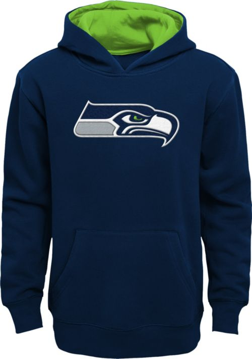 Nfl Team Apparel Youth Seattle Seahawks Prime Navy Pullover Hoodie