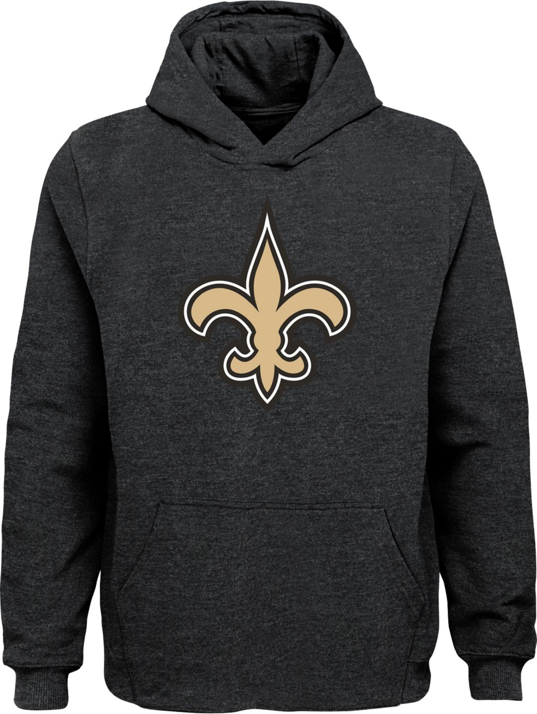 best service 29012 f2ff9 NFL Team Apparel Youth New Orleans Saints Logo Black Hoodie
