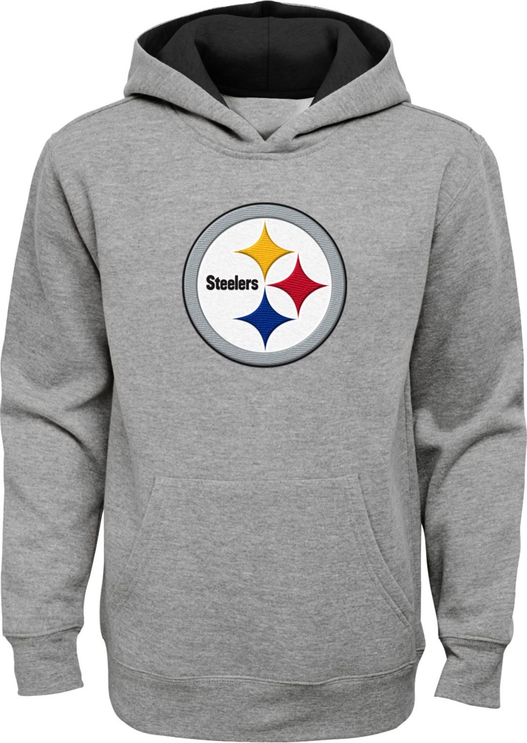 on sale 26f1c 583c4 NFL Team Apparel Youth Pittsburgh Steelers Prime Grey Pullover Hoodie