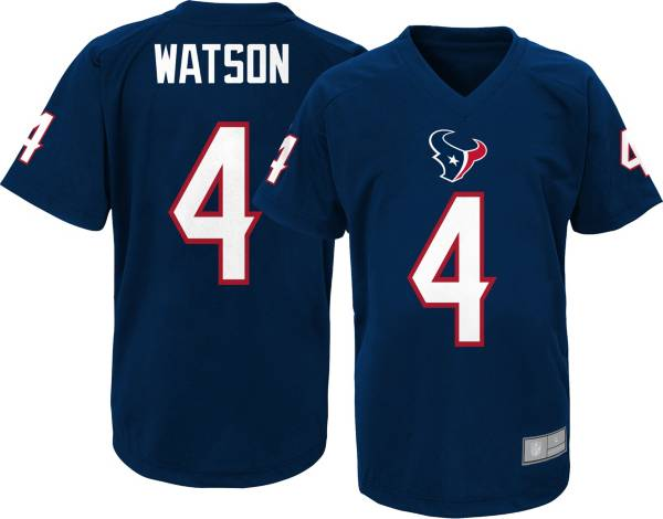 NFL Team Apparel Youth Houston Texans Deshaun Watson #4 Navy Performance T-Shirt product image
