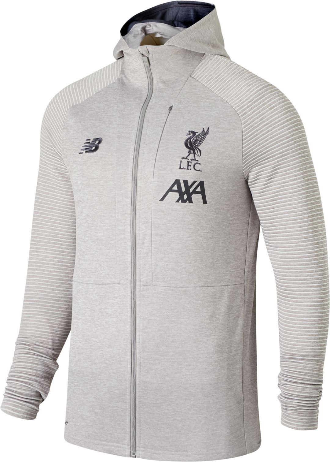 1106275cd7aec New Balance Men's Liverpool FC Travel Heather Grey Full-Zip Jacket.  noImageFound. Previous