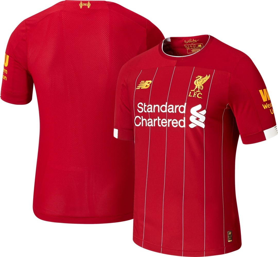 952b562aedbe0 New Balance Men's Liverpool '19 Authentic Match Home Jersey. noImageFound.  Previous