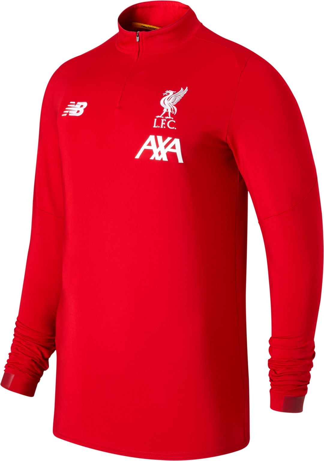 New Balance Men's Liverpool On Pitch Red Quarter Zip Pullover