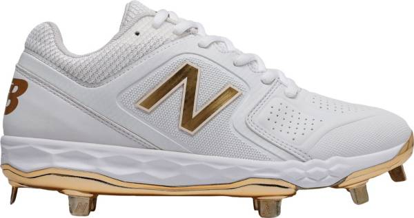New Balance Women's Fresh Foam Velo 1 Gold Metal Fastpitch Softball Cleats product image