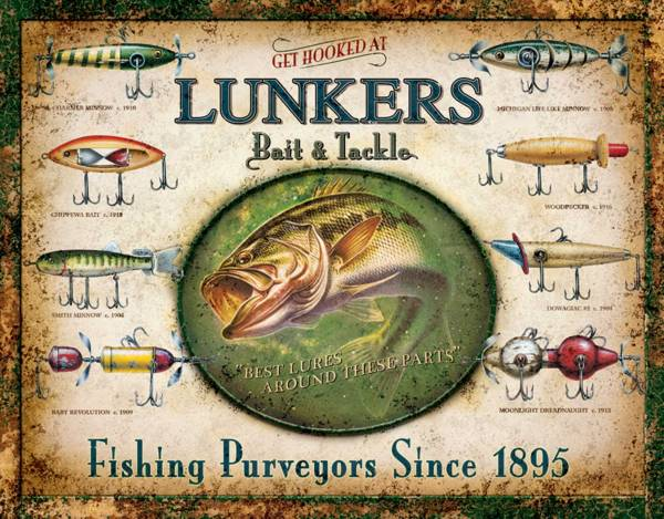 Lunker's Lures Tin Sign product image