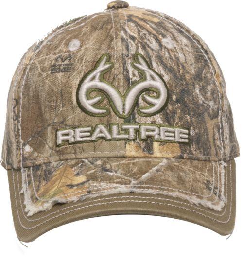 1f69c2d4b010a Outdoor Cap Men s Realtree Edge Distressed Logo Hat