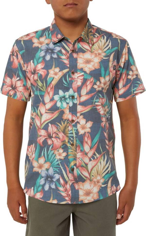 O'Neill Boys' Blissful Short Sleeve Button Up Shirt product image