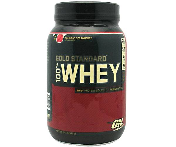 Optimum Nutrition 100% Whey Gold Standard Strawberry 2 lbs product image