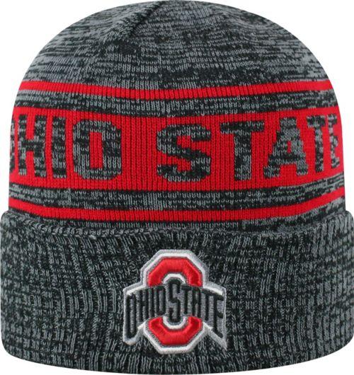 OSU Men s Ohio State Buckeyes Sockit To Me Grey Knit Beanie  36784707608