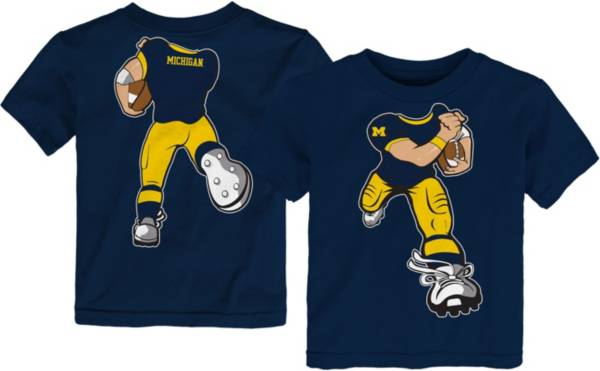 Gen2 Toddler Michigan Wolverines Blue Football Dreams T-Shirt product image