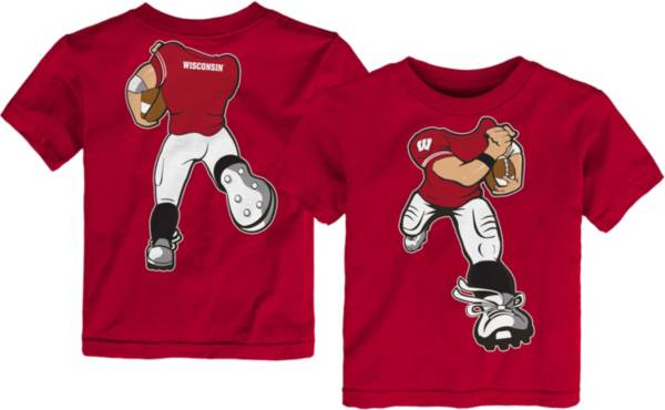 Gen2 Toddler Wisconsin Badgers Red Football Dreams T-Shirt product image