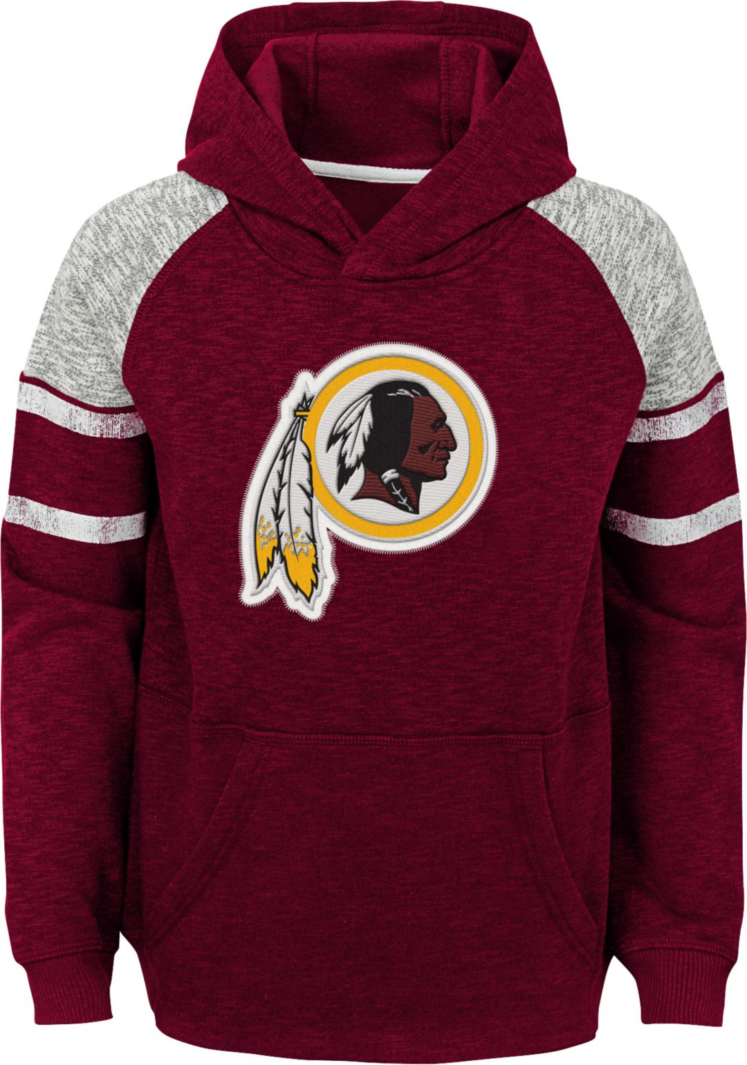10d8114f NFL Team Apparel Youth Washington Redskins Linebacker Red Pullover Hoodie |  DICK'S Sporting Goods