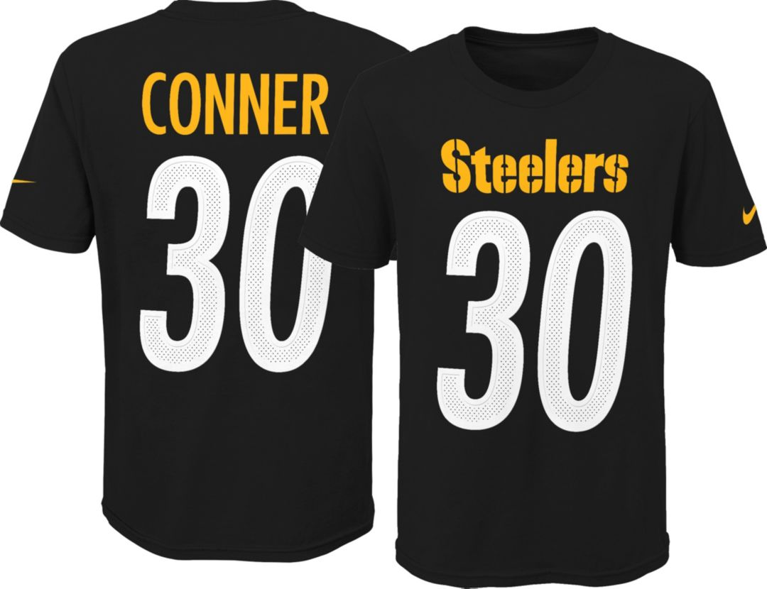 size 40 44beb b2255 Nike Youth Pittsburgh Steelers James Conner #30 Pride Black T-Shirt