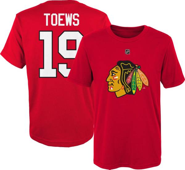 NHL Youth Chicago Blackhawks Jonathan Toews #19 Red Player T-Shirt product image