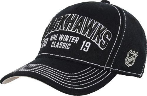 NHL Youth 2019 Winter Classic Chicago Blackhawks Black Snapback Adjustable  Hat c9f335f71