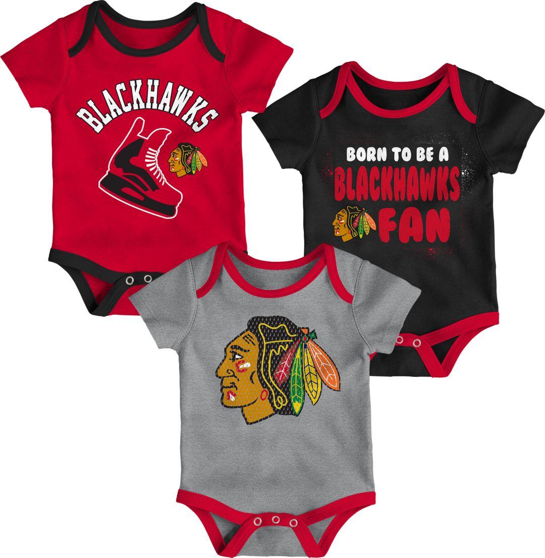 new styles 19075 d91d8 NHL Infant Chicago Blackhawks Onesie Set