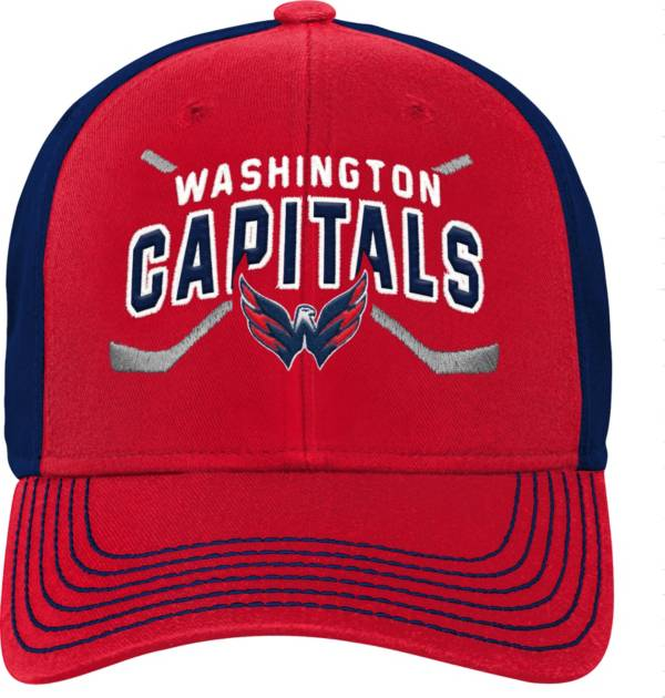 NHL Youth Washington Capitals Basic Strucutred Red Adjustable Hat product image