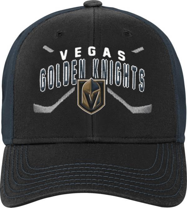 NHL Youth Vegas Golden Knights Basic Strucutred Black Adjustable Hat product image