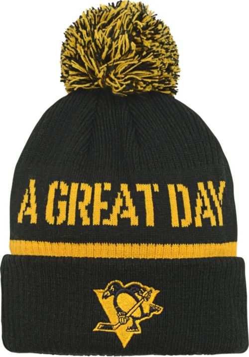 0049e6f8b30 NHL Youth 2019 Stadium Series Pittsburgh Penguins Authentic Black Cuff Pom Knit  Beanie. noImageFound. Previous