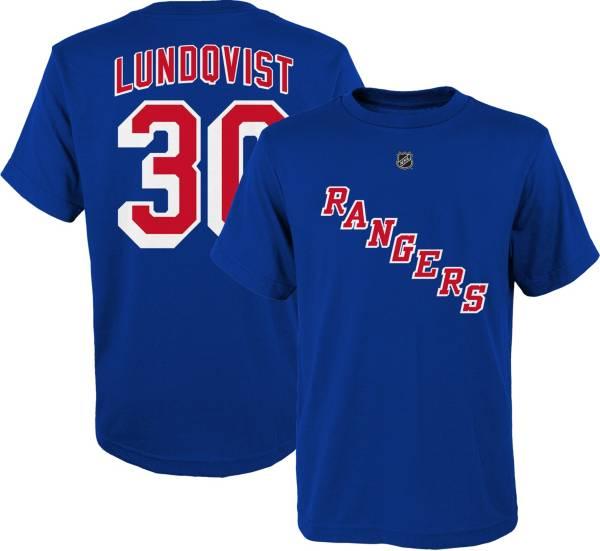 NHL Youth New York Rangers Henrik Lundqvist #30 Royal Player T-Shirt product image