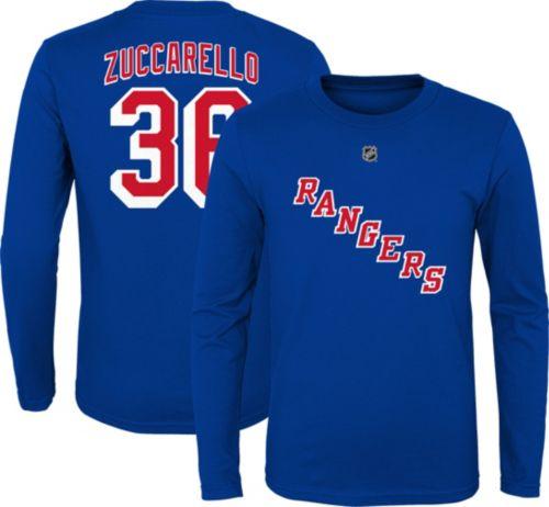 223cbe162abe6 NHL Youth New York Rangers Mats Zuccarello  36 Royal Long Sleeve ...