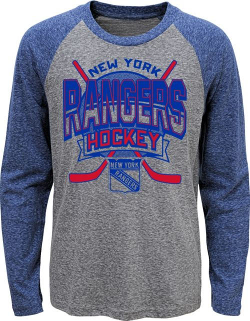 NHL Youth New York Rangers Home Rink Royal Raglan T-Shirt. noImageFound. 1 63fd17d0f95
