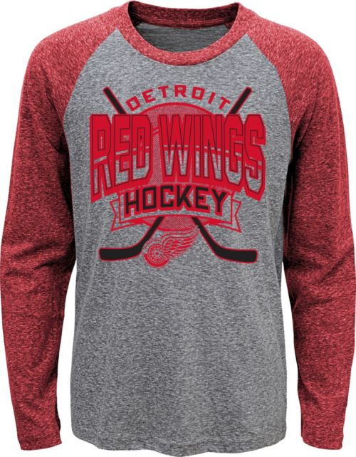 a34727c298e NHL Youth Detroit Red Wings Home Rink Red Raglan T-Shirt. noImageFound. 1