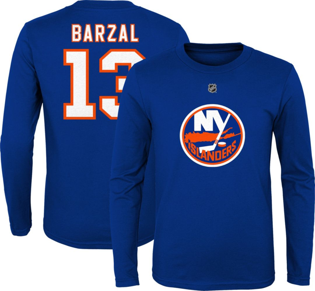 san francisco 56549 c96db NHL Youth New York Islanders Matthew Barzal #13 Royal Long Sleeve Player  Shirt