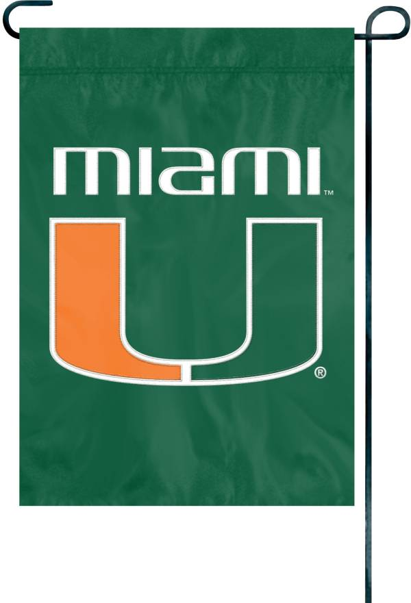 Party Animal Miami Hurricanes Premium Garden Flag product image