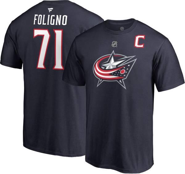 NHL Men's Columbus Blue Jackets Nick Foligno #71 Navy Player T-Shirt product image