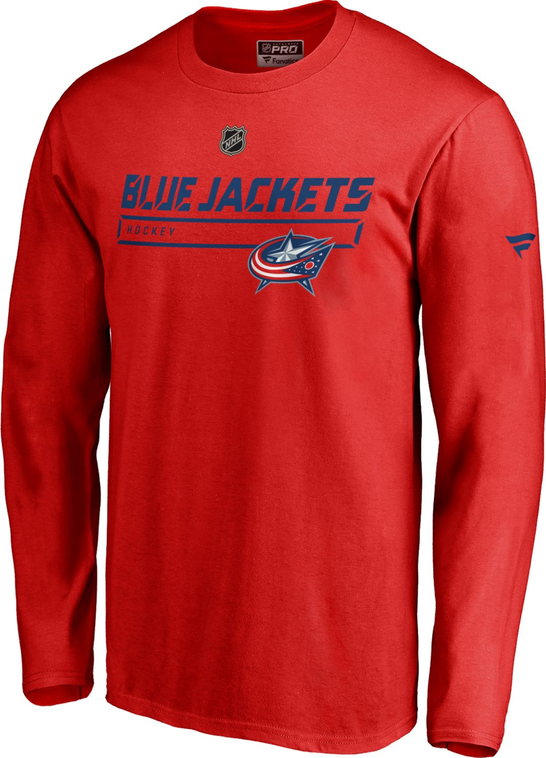 reputable site 5cf0f be741 NHL Men s Columbus Blue Jackets Authentic Pro Prime Red Long Sleeve Shirt.  noImageFound. Previous