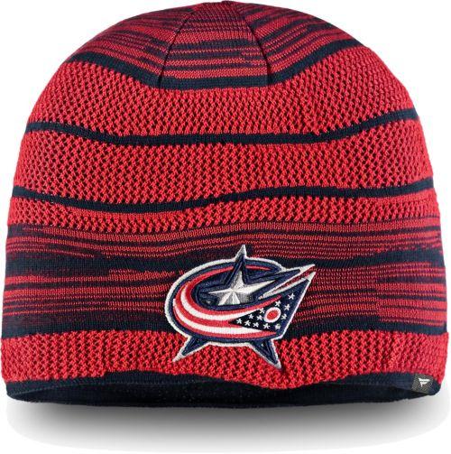 release date: 972fa a7c3e NHL Men s Columbus Blue Jackets Iconic Knit Beanie. noImageFound. 1