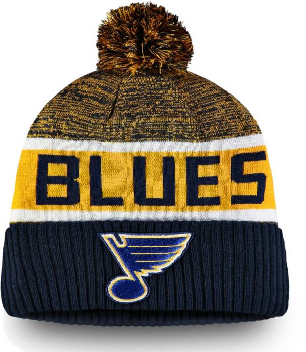 NHL Men's St. Louis Blues Authentic Pro Rinkside Goalie Navy Cuffed Knit Beanie product image