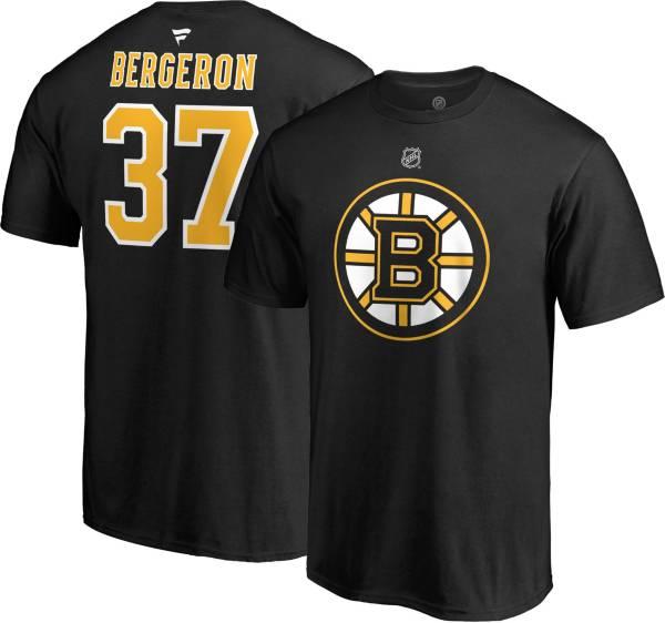 NHL Men's Boston Bruins Patrice Bergeron #37 Black Player T-Shirt product image