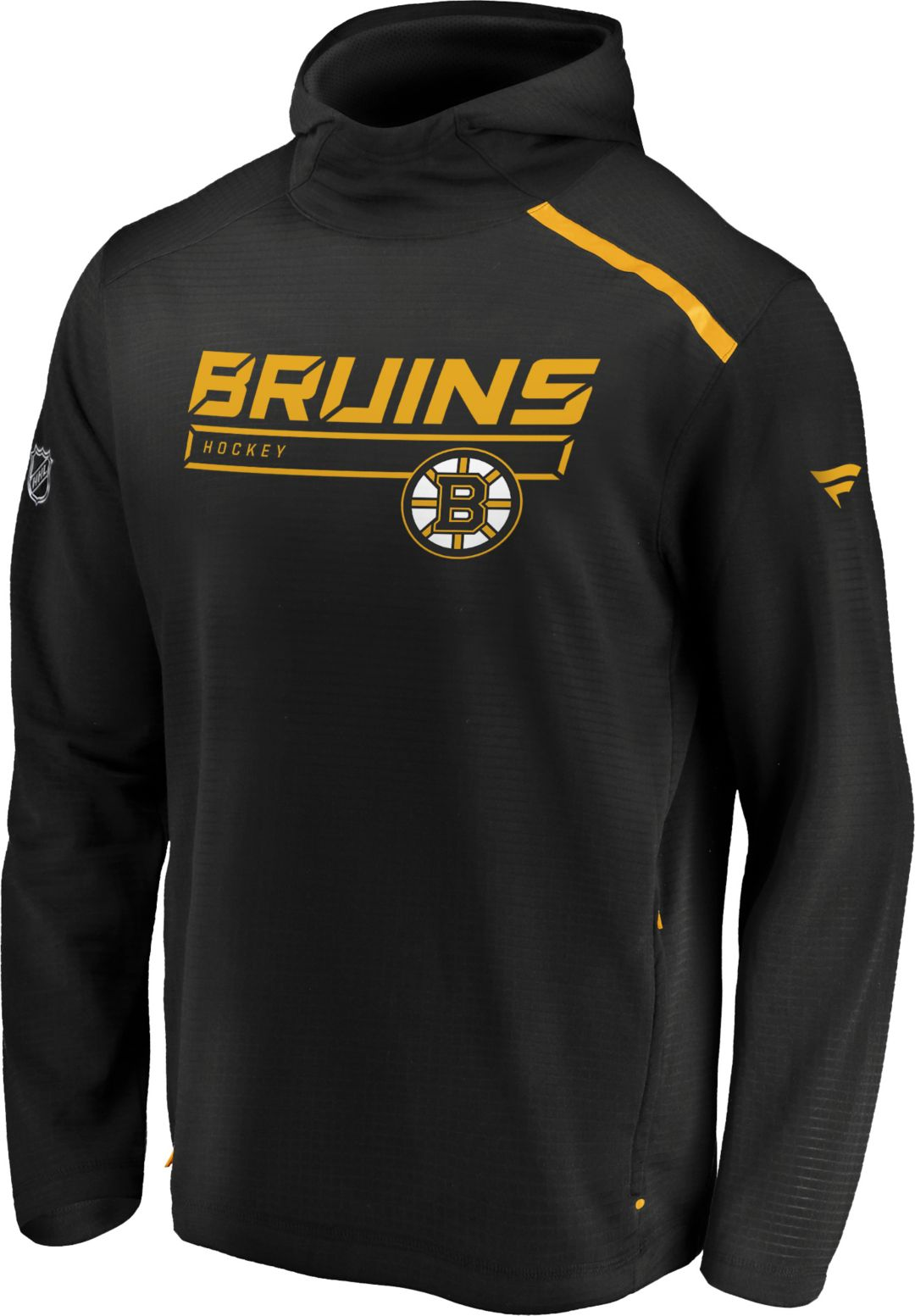 new products bf64f 42b75 NHL Men's Boston Bruins Authentic Pro Transitional Black Pullover Hoodie