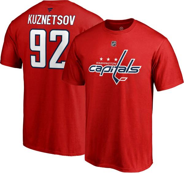 NHL Men's Washington Capitals Evgeny Kuznetsov #92 Red Player T-Shirt product image