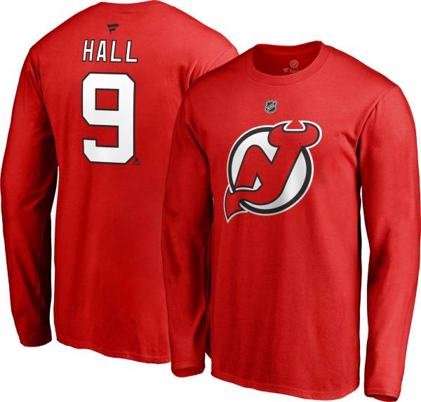 NHL Men's New Jersey Devils Taylor Hall #9 Red Long Sleeve Player Shirt product image