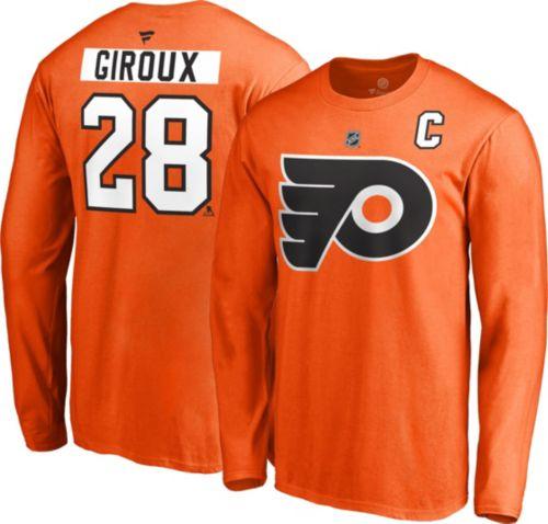 aeaccf438c8 NHL Men's Philadelphia Flyers Claude Giroux #28 Orange Long Sleeve Player  Shirt. noImageFound. Previous