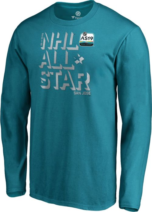 NHL 2019 NHL All-Star Game Zone Teal T-Shirt. noImageFound. 1 5f4528235